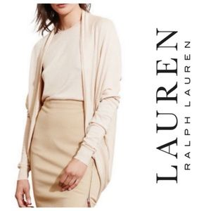 LAUREN Ralph Lauren Open Cardigan Grey